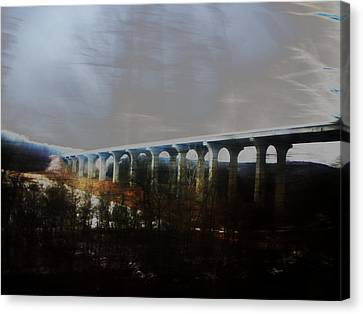 Bridge To The Past Canvas Print by Rosvin Des Bouillons