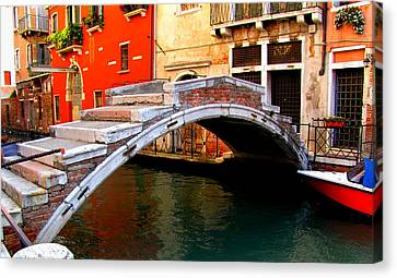 Bridge Without Railings Canvas Print by Barbara Walsh