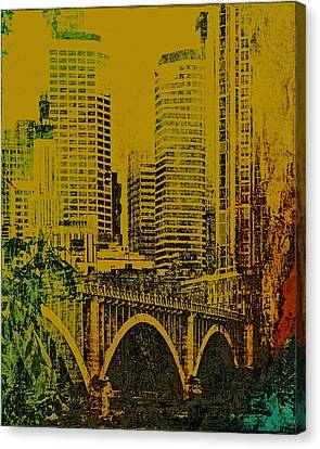 Bridging Minneapolis Canvas Print by Susan Stone