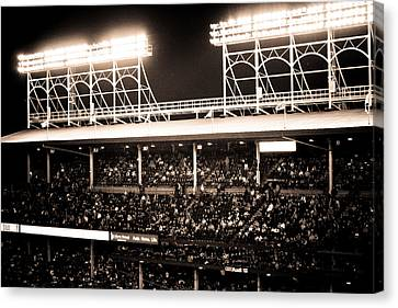 Bright Lights Of Wrigley Field Canvas Print by Anthony Doudt