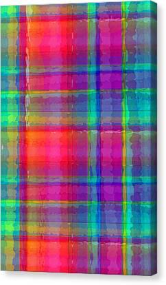 Bright Plaid Canvas Print by Louisa Knight