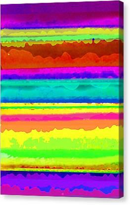 Bright Stripe Canvas Print by Louisa Knight