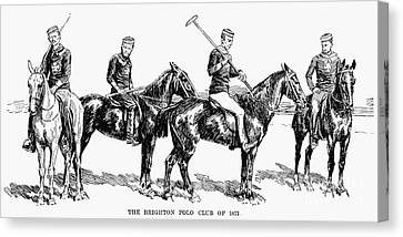 Brighton Polo Club, 1877 Canvas Print by Granger