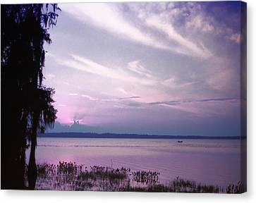 Brilliant Everglades Sunset Canvas Print by Lynnette Johns