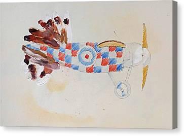 British Bird Plane Canvas Print by Virginia Stuart