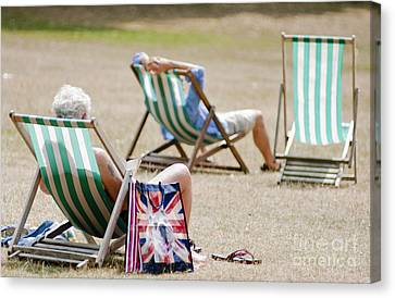 British Deck Chairs Canvas Print by Andrew  Michael