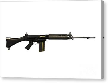 British L1a1 Self-loading Rifle Canvas Print by Andrew Chittock