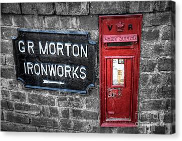 British Mail Box Canvas Print by Adrian Evans