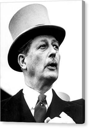 British Prime Minister Harold Canvas Print by Everett