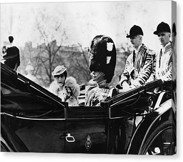 British Royal Family. Center, From Left Canvas Print by Everett