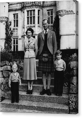 British Royal Family. From Left Anne Canvas Print by Everett