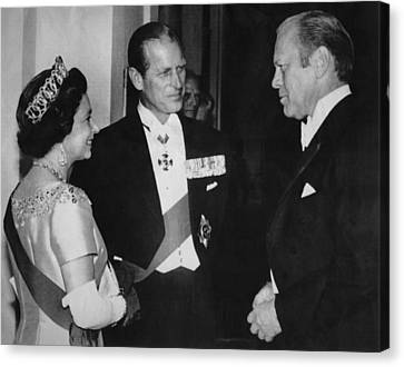 British Royalty. From Left  Queen Canvas Print by Everett