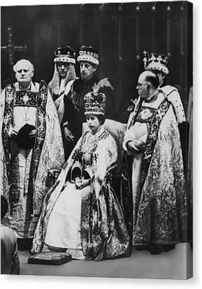 British Royalty. Front Row, From Left Canvas Print by Everett