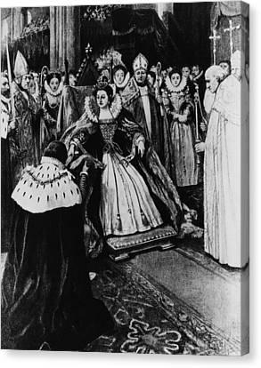 British Royalty. Queen Elizabeth I Canvas Print by Everett