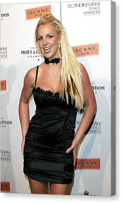Britney Spears At Arrivals Canvas Print by Everett