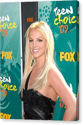 Britney Spears At Arrivals For Teen Canvas Print by Everett