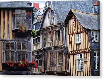 Canvas Print featuring the photograph Brittany Buildings by Dave Mills