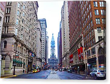 Broad Street Avenue Of The Arts Canvas Print by Bill Cannon
