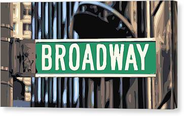 Broadway Sign Color 16 Canvas Print by Scott Kelley