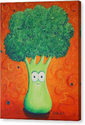 Brocolli Canvas Print by Jennifer Alvarez