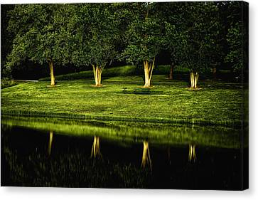 Broemmelsiek Park Green Canvas Print by Bill Tiepelman