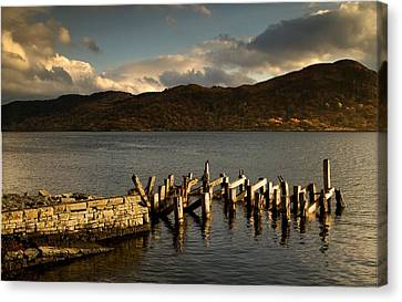 Broken Dock, Loch Sunart, Scotland Canvas Print by John Short
