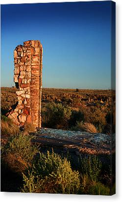 Canvas Print featuring the photograph Broken Glass At Two Guns by Lon Casler Bixby