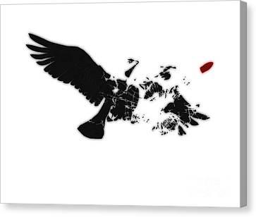Broken Peace Canvas Print by Pixel Chimp