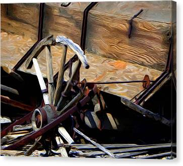 Broken Wagon Wheel Canvas Print
