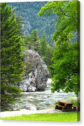 Bromley Rock Canvas Print by Infinitimage Canada
