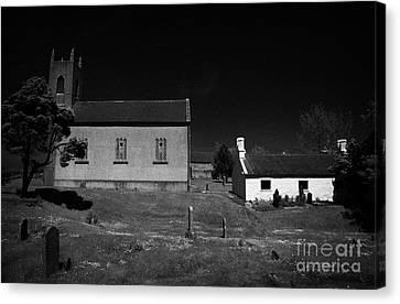 Bronte Homeland Interpretive Centre Drumballyroney Church County Down Ireland Canvas Print by Joe Fox