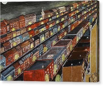 Bronx Blocks Canvas Print