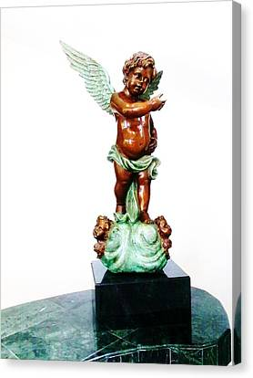 Bronze Angel Canvas Print by Unique Consignment