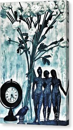 Bronze Still Life Canvas Print by Marsha Heiken