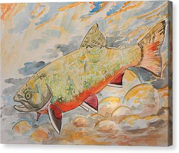 Brookie Canvas Print