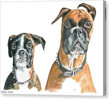 Brooklyn Boxers Canvas Print by Marla Saville