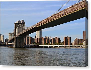 Brooklyn Bridge1 Canvas Print by Zawhaus Photography