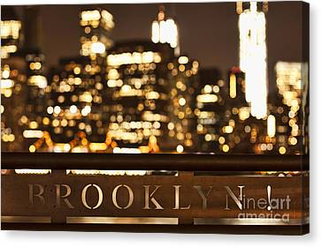 Gold Color Canvas Print - Brooklyn Bubbly by Andrew Paranavitana
