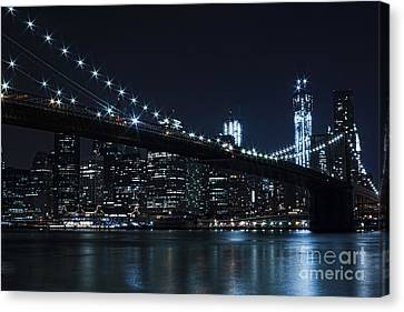 Unique Structure Canvas Print - Brooklyn Nights by Andrew Paranavitana