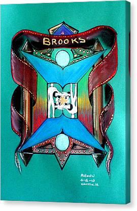 Brooks Family Crest Canvas Print
