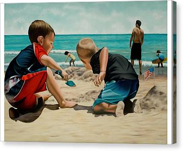 Brothers Canvas Print by Douglas Fincham