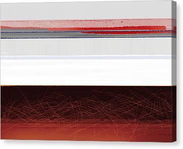 Brown Horizon Canvas Print by Naxart Studio