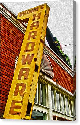 Browns Harware Canvas Print by Gregory Dyer