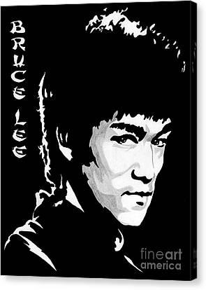 Bruce Lee Canvas Print by Zeeshan Nayani