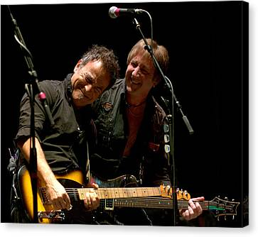 Bruce Springsteen And Danny Gochnour Canvas Print by Jeff Ross