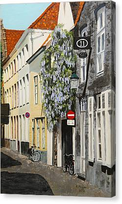 Bruges Wisteria Canvas Print