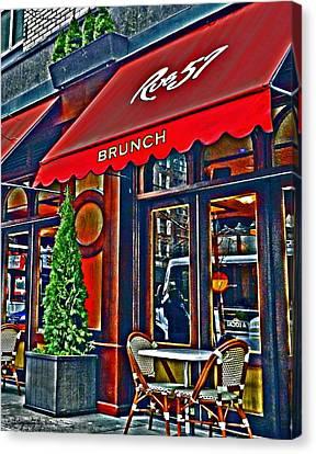 Restauraunt Canvas Print - Brunch At The Cafe' by Mamie Thornbrue