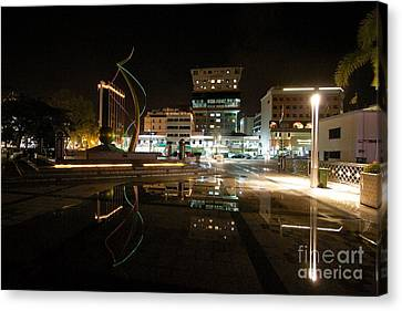 Canvas Print featuring the pyrography Brunei At Night  by Gary Bridger