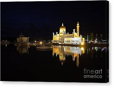 Canvas Print featuring the pyrography Brunei Refections.  by Gary Bridger