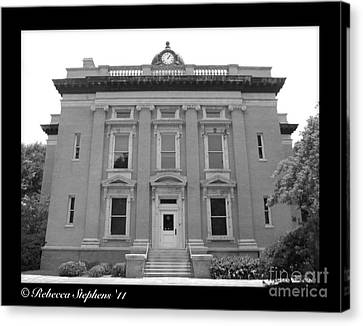 Brunswick Historical Court House Canvas Print by Rebecca Stephens